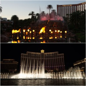 Volcano bei The Mirage Hotel & The Bellagio Fountains